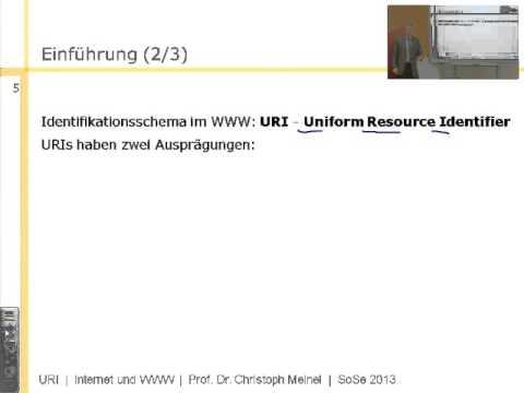 Internet- und WWW-Technologien, URI - Uniform Resource Identifier