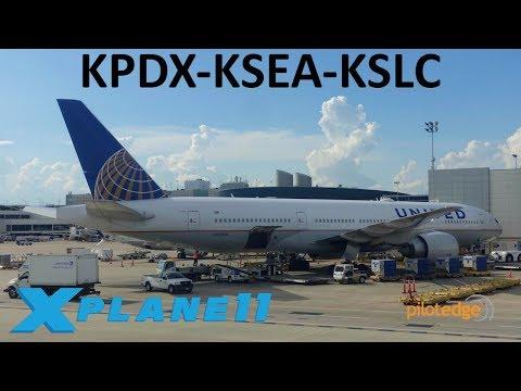 X-Plane 11 | 16K Sub Celebration!!! | B737 B777 | PilotEdge | Portland, Seattle & Salt Lake City!!