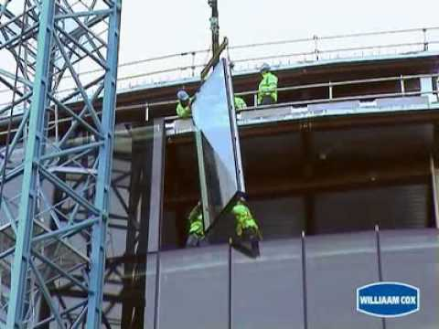 Unitised Curtain Wall   Block G, Sanyford, Ireland   YouTube
