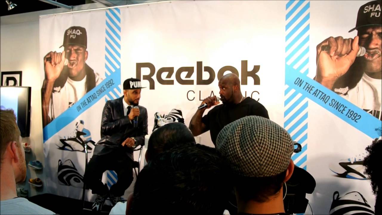 1d5e1bf15ff0b9 Shaquille O Neal at PROJECT Las Vegas for Reebok Classics with Swizz Beatz