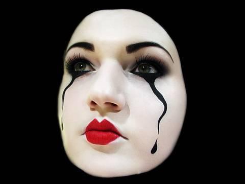pantomime mask makeup for halloween by misschievous. Black Bedroom Furniture Sets. Home Design Ideas