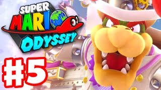 Super Mario Odyssey - Gameplay Walkthrough Part 5 - Bowser Fight in Cloud Kingdom! (Nintendo Switch)