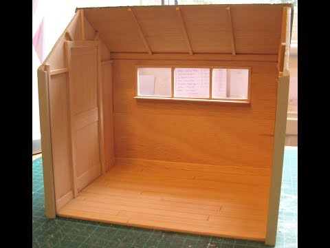 How to Cover a Small Area with Strip Wood Flooring  for Dolls Houses