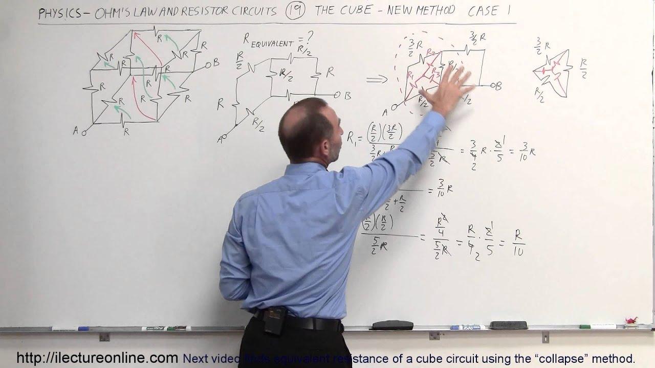 Physics - E U0026m  Ohm U0026 39 S Law  U0026 Resistor Circuit  19 Of 23  The Cube  New Method Case 1