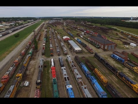 National Railway Equipment In Silvis Illinois (Drone)