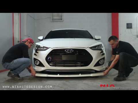 Hyundai veloster splitter lip kit how to install