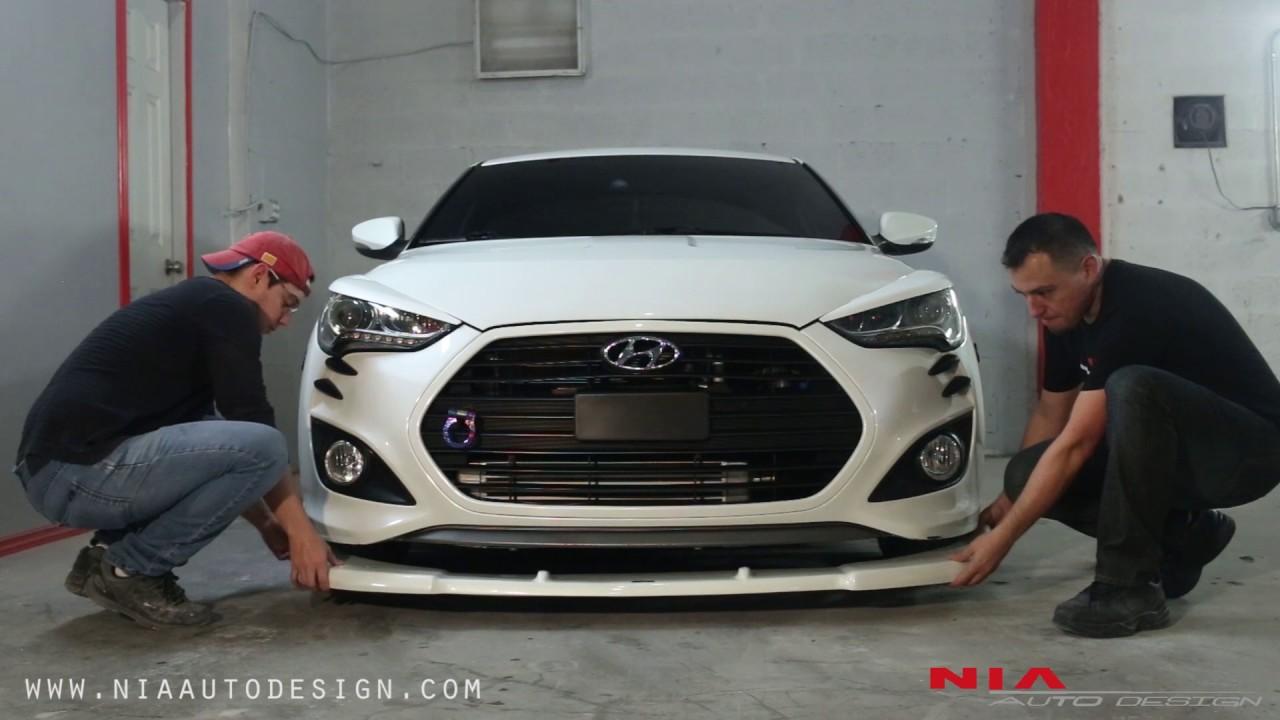 Hyundai Veloster Front Splitter Lip Kit How To Install Diy