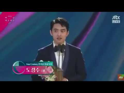 [170503]Kyungsoo won Star Century Popularity Award [movie (hyung)] at Baeksang Arts Award 2017