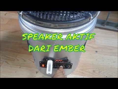 Kerajinan tangan dari Ember - Cara Membuat Speker Aktif dari Ember Bekas.