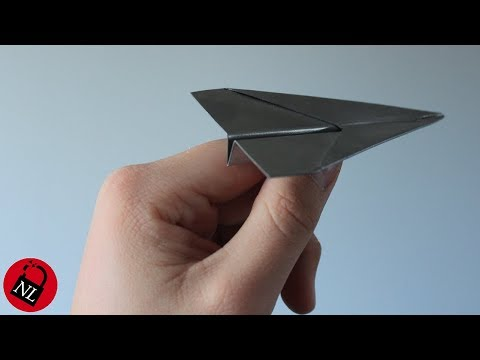 Folded Metal Paper Airplane