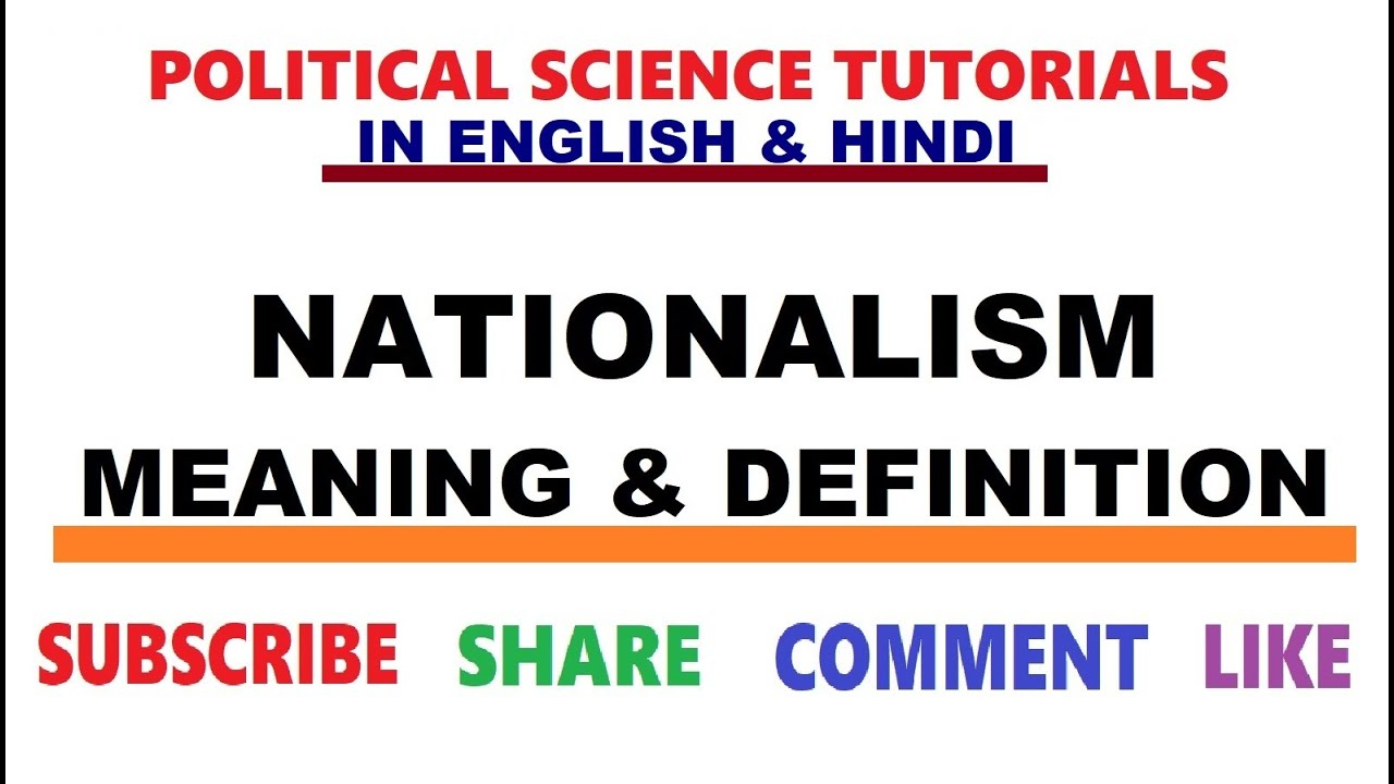 Political Nationalism Definition