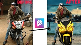 How to change Bike in PicsArt | PicsArt editing tutorial | PicsArt Manipulation | Hindi | Full HD