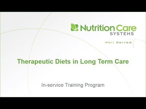 Therapeutic diets in Long Term Care