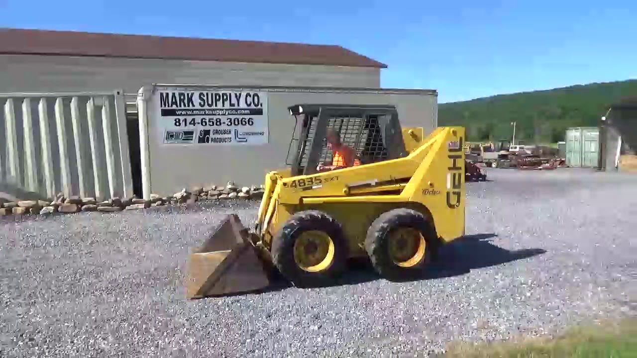 2001 Gehl 4835 Rubber Tire Skid Steer Loader For Sale Mark Supply Co Saxton  Pa