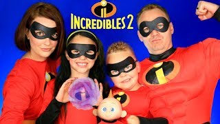 Disney Pixar Incredibles 2 Mr. Incredible, Elastigirl, Violet, Dash, Jack Jack Makeup and Costumes! thumbnail