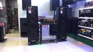 Dàn karaoke giá rẻ mà chất âm cực khủng, amply Sammax Pro-501A Bluetooth, loa đứng 2 bass 25cm 669