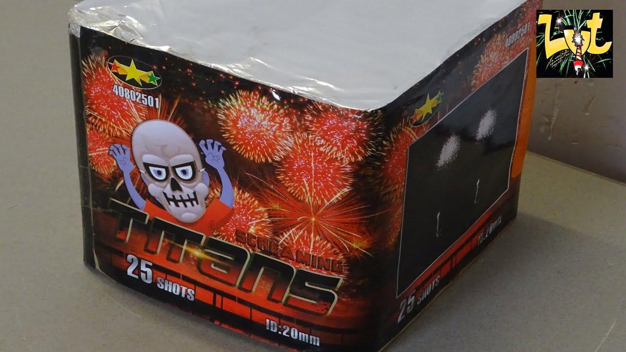 Titans 25 Shots Salute Cake Tristar Fireworks