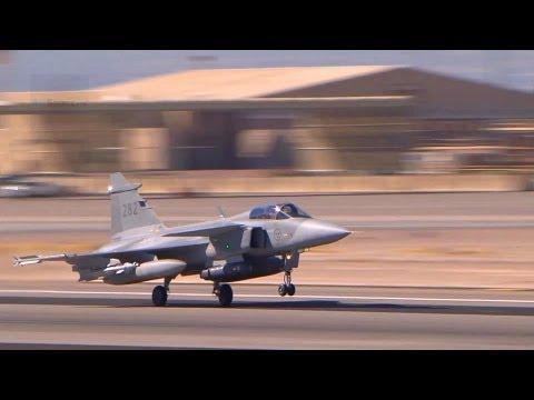 Swedish Saab JAS 39 Gripen Pre-flight & Takeoff