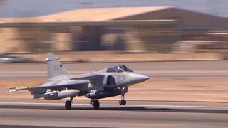 Swedish Saab JAS 39 Gripen Maintainers doing pre-flights, and takeoffs | AiirSource