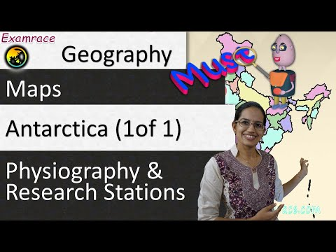 Antarctica (1 of 1) - Physiography & Research Stations : Learning World Geography through Maps