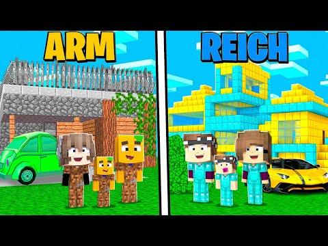 ARMES Familien LEBEN vs. REICHES Familien LEBEN in Minecraft!