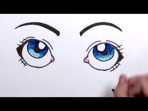 How To Draw Cartoon Eyes Mlt Youtube