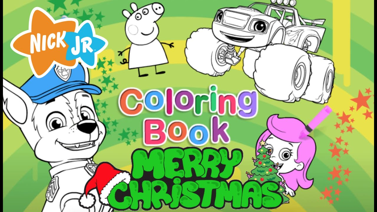 christmas coloring book new nick jr full game hd episode