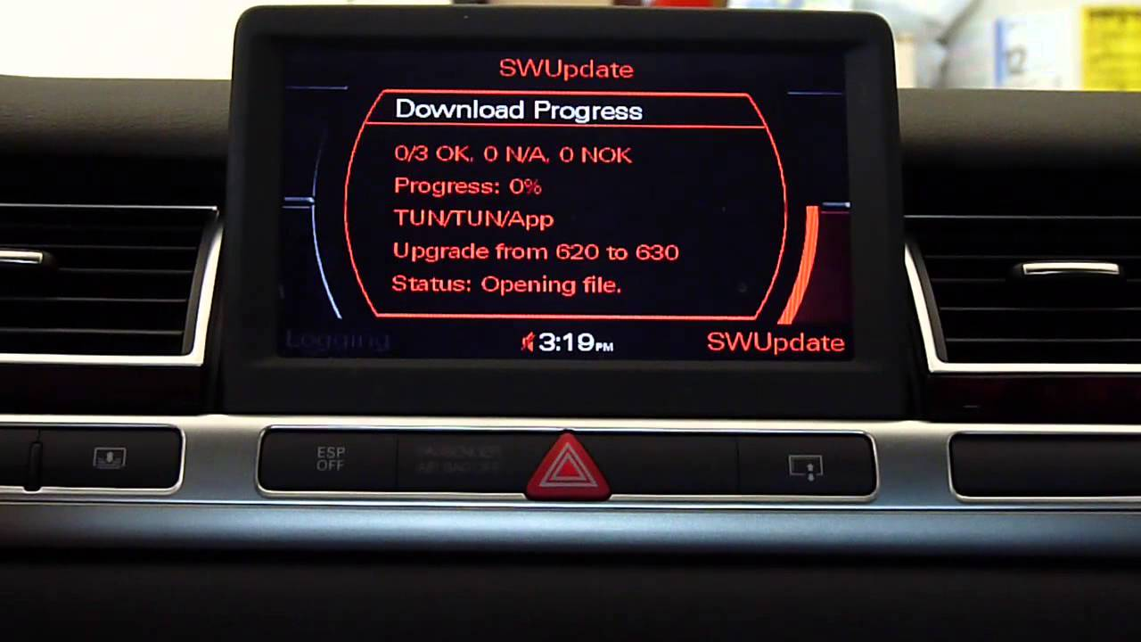 Audi Mmi Software Update From 3360 To 4610 Youtube