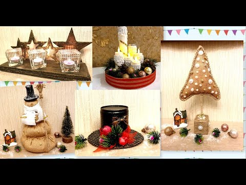 5 DIY Christmas recycled home decoration  ideas /HOW TO