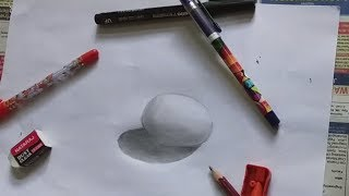 [Time Lapse] Drawing  Real Egg    Optical Illusion    Sorry for bad quality