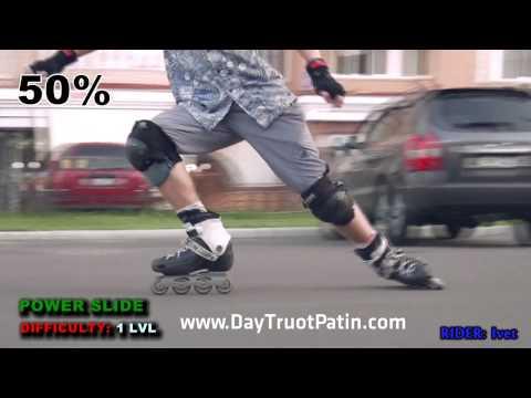 Slide Trick - Kỹ thuật trượt patin phanh Power Slide - www.DayTruotPatin.com