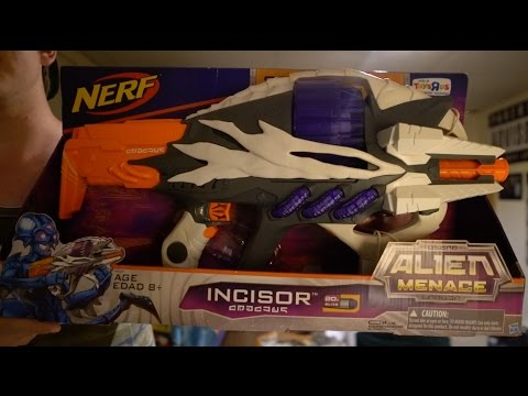 Nerf Alien Menace Incisor Unboxing and Review!