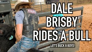 Dale Brisby on a bull - Rodeo Time 105