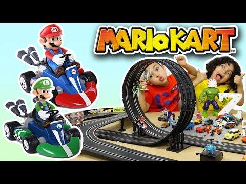 Nintendo Super Mario bros Kart 8 Track Set S – Scalextric Mario & Luigi Carrera Go race