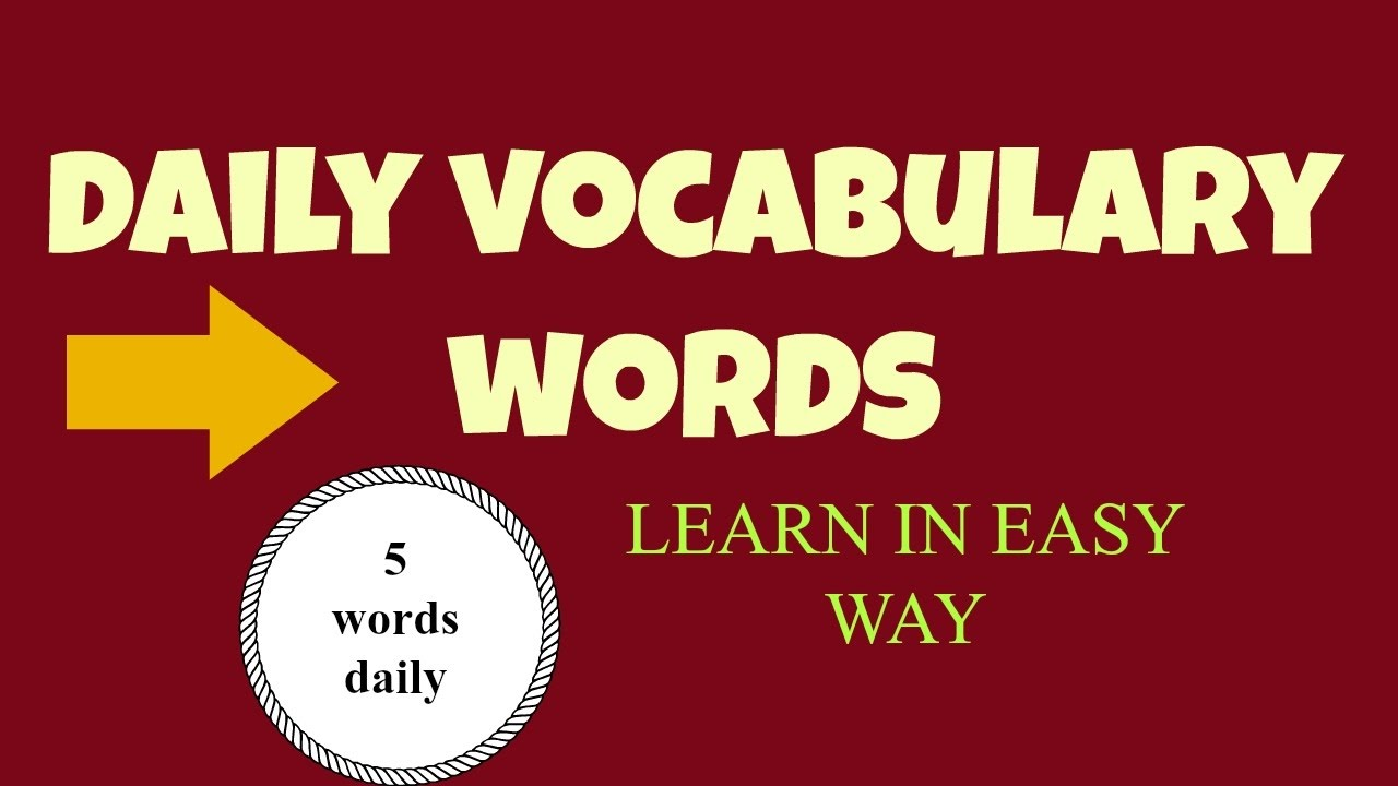 how to learn english words daily