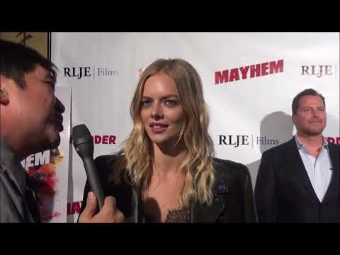 Beyond Fest 2017: Samara Weaving Red Carpet Interview at Mayhem Premiere