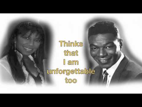 Nate King Cole and Natalie Cole Unforgettable Lyrics