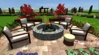 Open Plan Garden Design With A Pond, Vegetable And Planting Borders - Pmn Landscape Designs Ltd