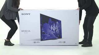 Sony BRAVIA OLED unboxing || the A8F/AF8 series || Gadgets Boy