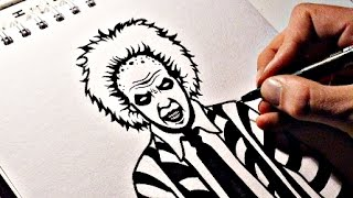 How To Draw BEETLEJUICE