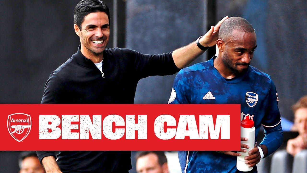 BENCH CAM | Fulham vs Arsenal (0-3) | Lacazette, Gabriel, Aubameyang