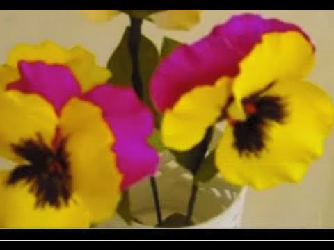 How to make Paper Flowers Pansy / Violet (Flower # 18)