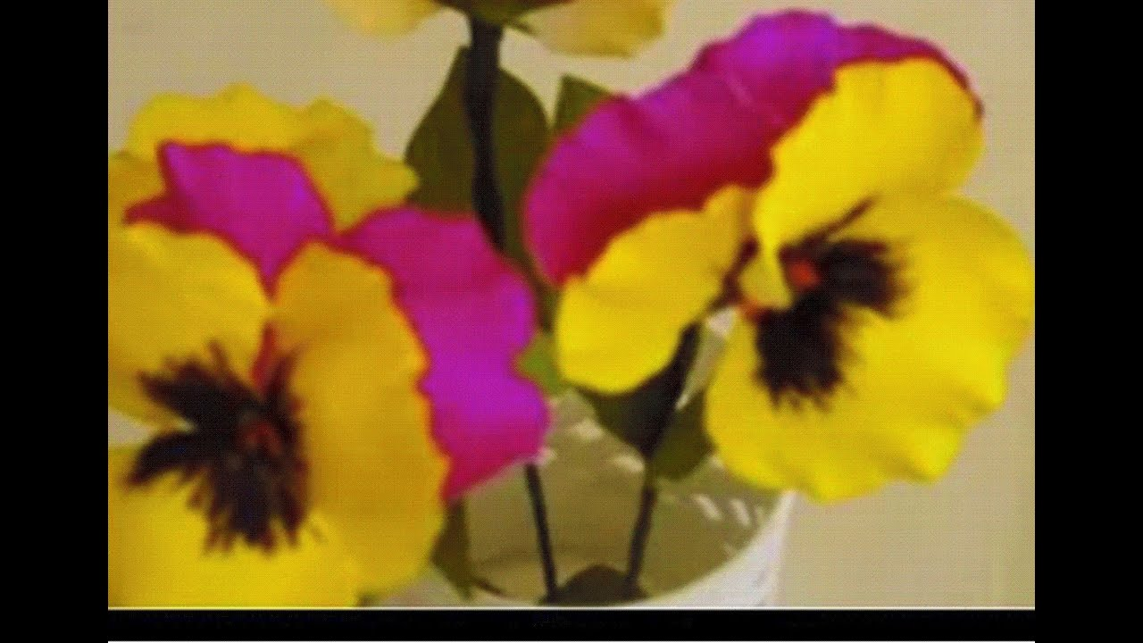 Paper Flowers - Pansy / Violet (Flower # 18) - YouTube