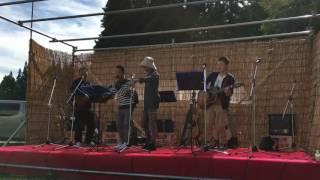 小野川温泉開湯祭 バンドステージ 乾杯