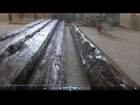 Деревянные балки на потолке, изготовление, монтаж.