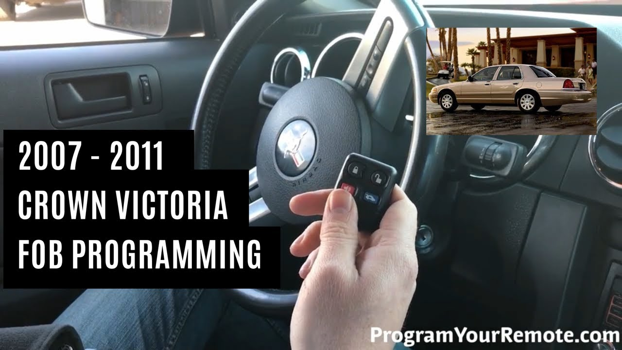 How To Program A Ford Crown Victoria Remote Key Fob 2007 2011 Youtube