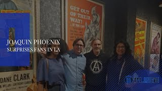 Joaquin Phoenix Surprises Fans in LA For Joker