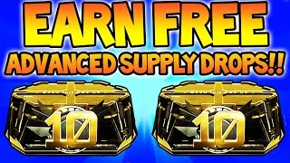 EARN FREE ADVANCED SUPPLY DROPS! (COD AW) How To Get Free Supply Drops