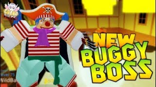 Roblox Grand Piece Online | FIGHTING NEW BUGGY BOSS & SHOWCASE/REVIEW
