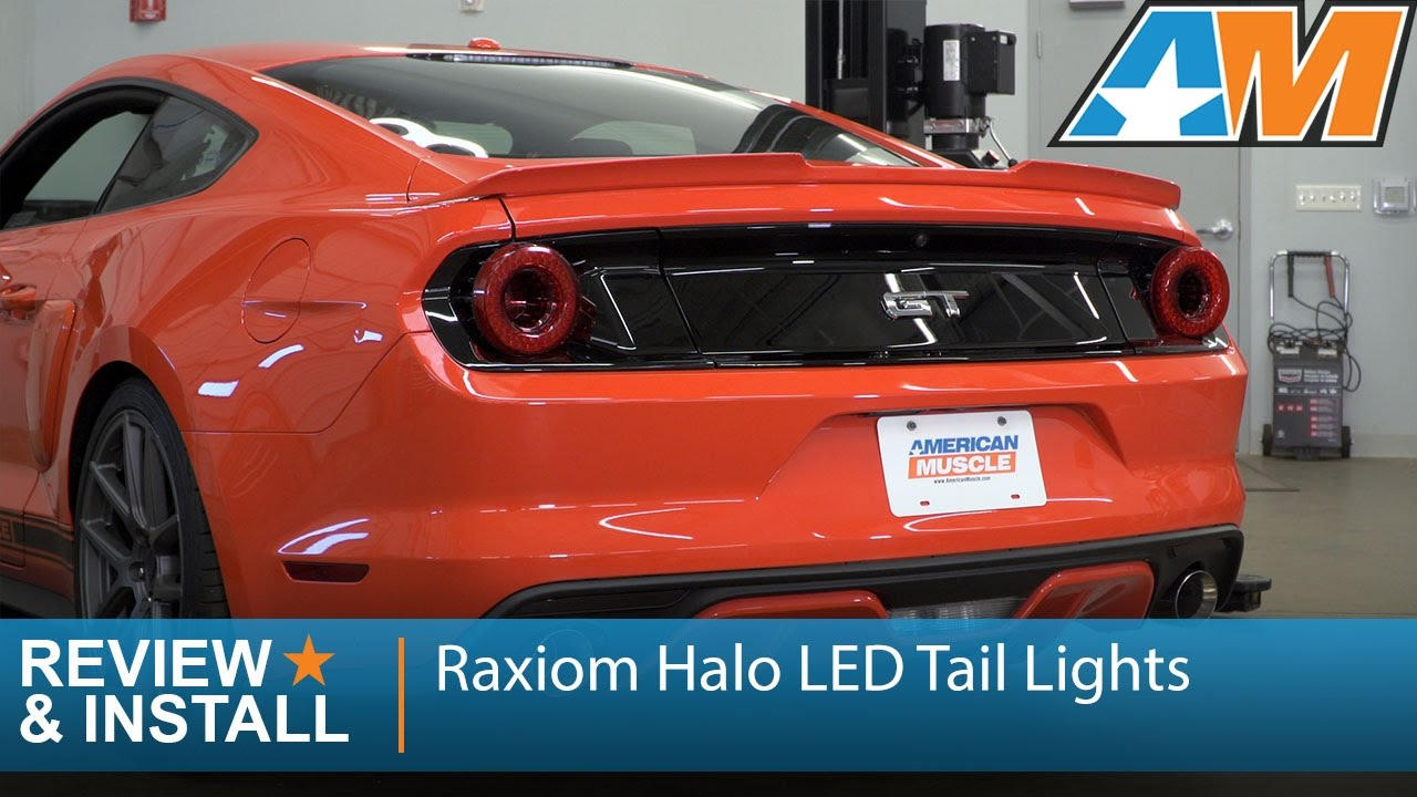 2015 2017 Mustang Raxiom Halo Led Tail Lights Review Install Youtube